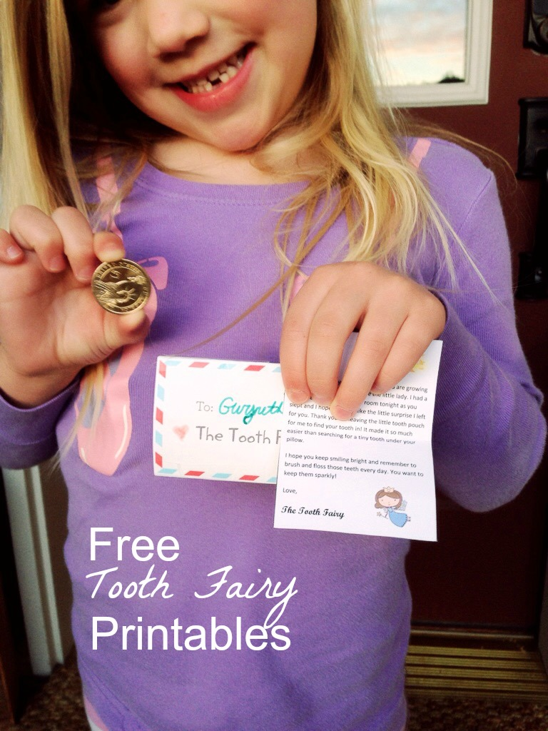 picture relating to Free Printable Tooth Fairy Letters named The Enamel Fairy and Free of charge Printables Dwelling with Female