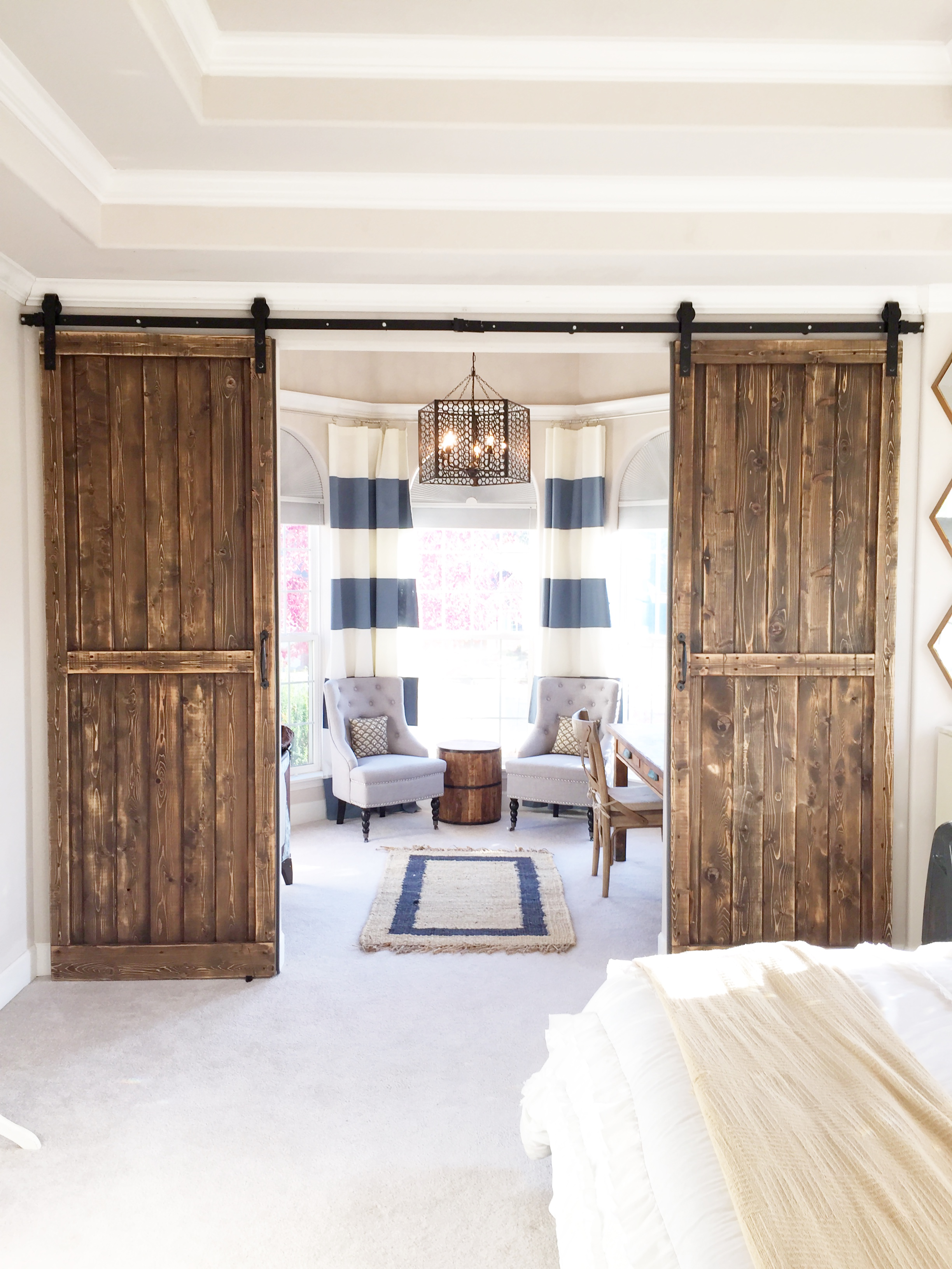 ideas for turning garage into living space - Our Barn Door Bedroom Addition