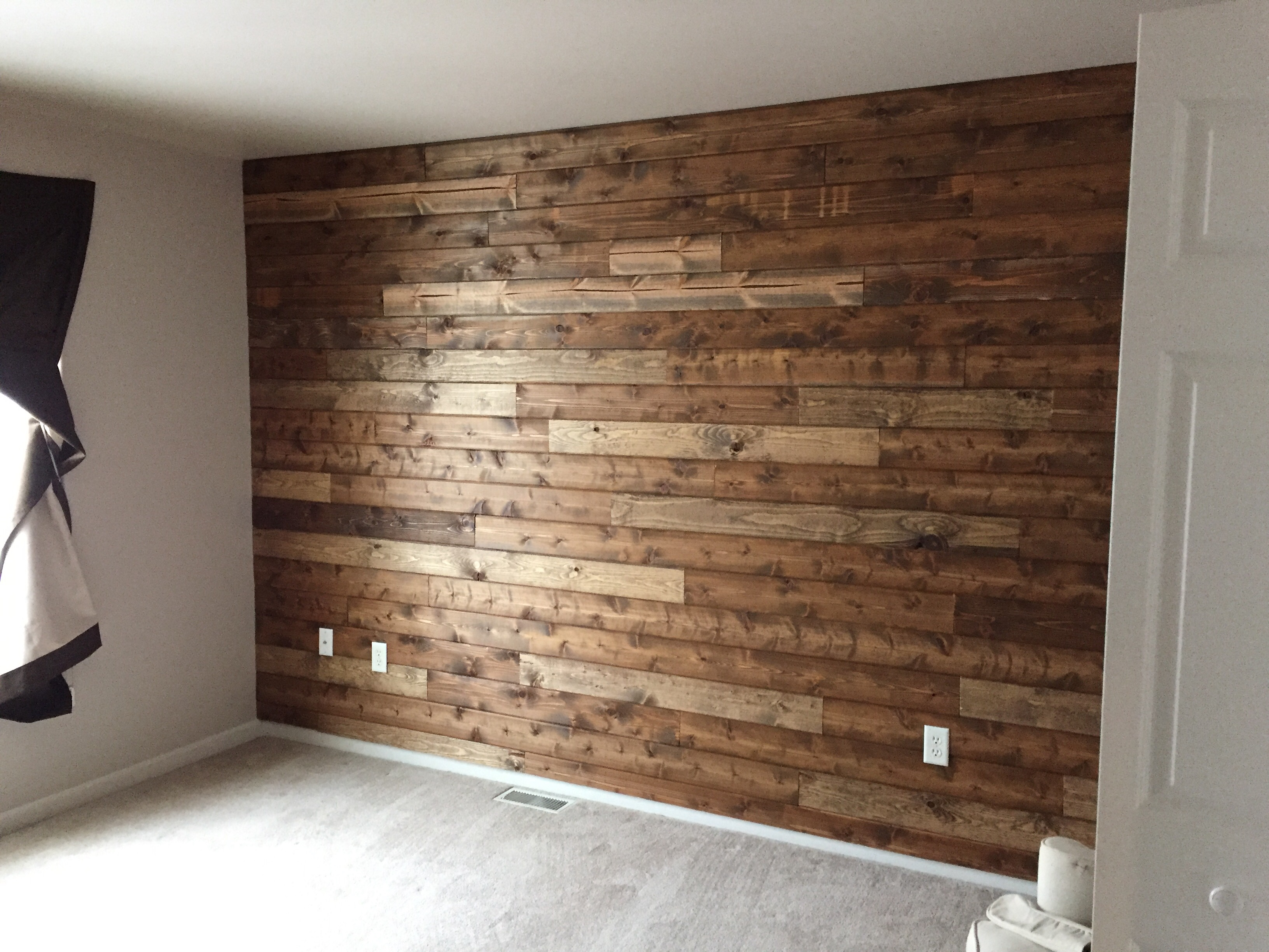 Wooden Accent Wall Tutorial - Living with Lady
