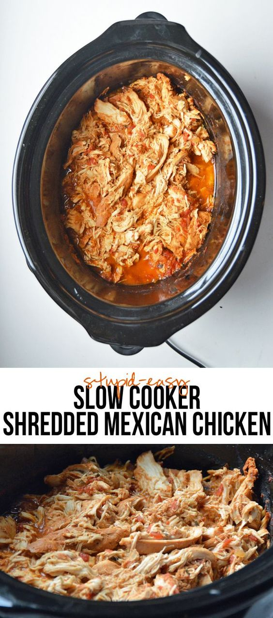 Shredded crockpot chicken